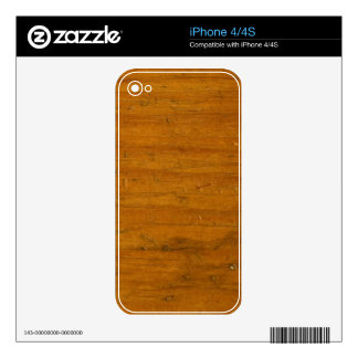 Wood Grain Skin For The iPhone 4