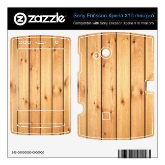 Wood Grain Xperia X10 Skins