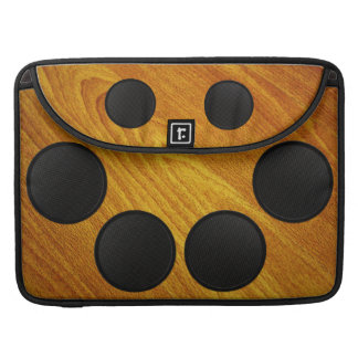 Wood Grain Speaker Cabinet Sleeve For MacBooks