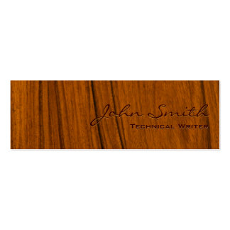 Wood Grain Technical Writer Business Card
