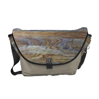 Wood Grain Texture Background Courier Bag