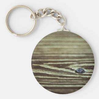 Wood Grain Texture Key Chain