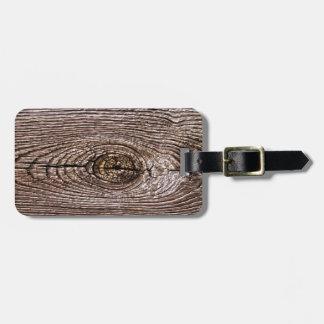 Wood Grain Texture Luggage Tag