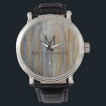 "Wood Grain Texture Monogram #5 Wristwatch<br><div class=""desc"">Wood Grain Texture Monogram. Remove or change Information prior to purchase. Design is available on other products.</div>"