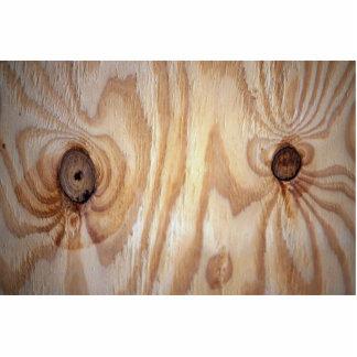 Wood grain texture acrylic cut out