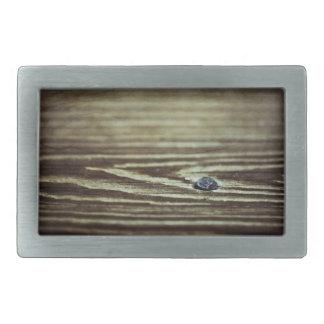 Wood Grain Texture Rectangular Belt Buckle