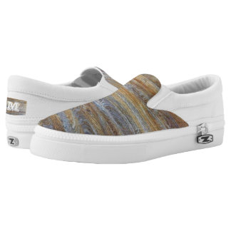 Wood Grain Texture Slip-On Sneakers