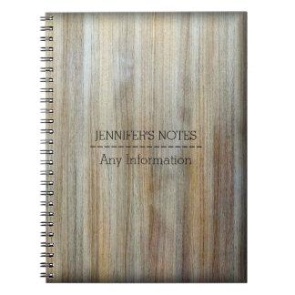 Wood Grain Texture Spiral Notebook