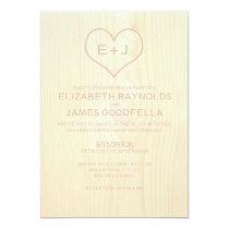 Wood Grain Wedding Invitations