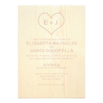 Wood Grain Wedding Invitations Invites