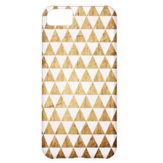 Wood Grain WhiteGeometric Tessellation iPhone Case