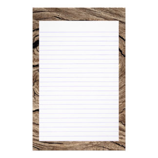 Wood Grained  Lined Stationery