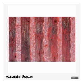 Wood Grunge Wall Wall Sticker