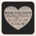 """Wood Heart Save The Date Coaster<br><div class=""""desc"""">Font style,  size,  and color can be customized.  The coaster shape can also be changed to fit your needs. For coordinating Envelopes and Postage Stamps,   visit https://www.zazzle.com/ideal_invitations</div>"""