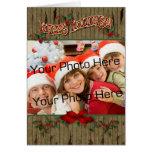 Wood Holly Photo Greeting Greeting Card