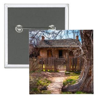 Wood Home - Grafton Ghost Town - Utah Button