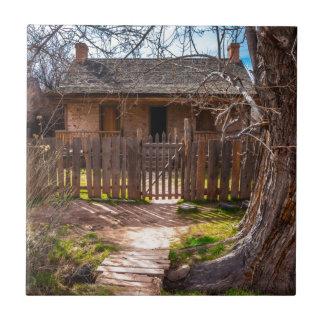 Wood Home - Grafton Ghost Town - Utah Ceramic Tile