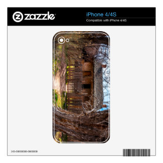 Wood Home - Grafton Ghost Town - Utah Decals For iPhone 4