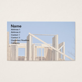 Wood House Framing Business Card