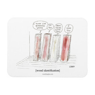 Wood Identification Cartoon Premium Flexi Magnet