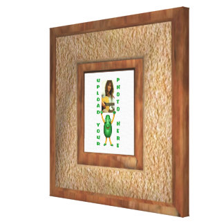 Wood illusion photo border wrapped canvas gallery wrap canvas