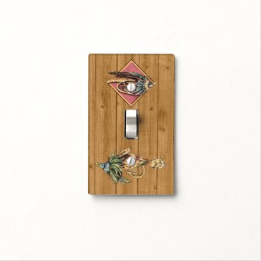 Professional Business Wood IMAGE Fishing Lure Light Switch Cover