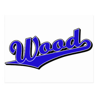 Wood in Blue Postcard