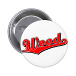 Wood in Red Pinback Buttons