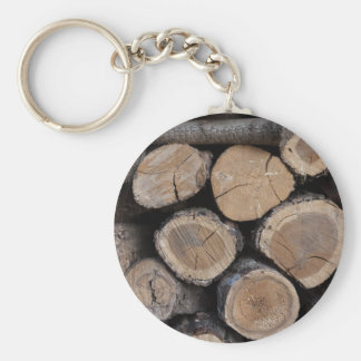 wood in the woodshed keychain