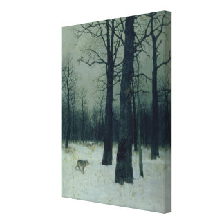 Wood in Winter, 1885 Canvas Print