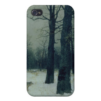 Wood in Winter, 1885 Cover For iPhone 4