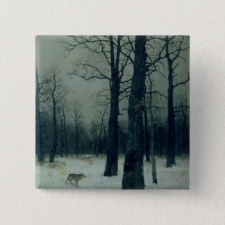 Wood in Winter, 1885 Pinback Button