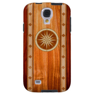 Wood Inlay Compass Phone Case