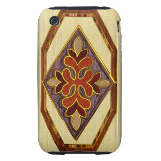 Wood Inlay iPhone 3 Tough Case