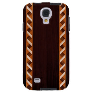 Wood Inlay Phone Case - Dark Wood with Spiral