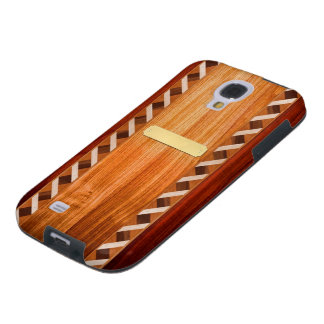 Wood Inlay Phone Case - Light -With Name Plate