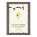 "Wood Inspired / Tin Can Of Wildflowers Wedding 5"" X 7"" Invitation Card"