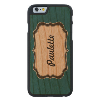 wood iphone6 carved® cherry iPhone 6 slim case