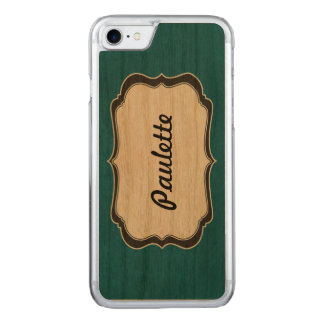 wood iphone6 carved iPhone 7 case