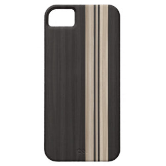 Wood iPhone 5 Case with Stripes - Surfboard Style