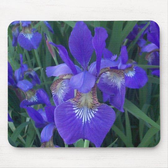 Wood Iris Mouse Pad
