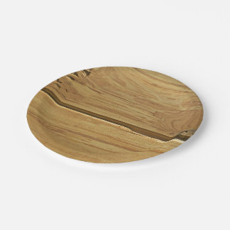 Wood Is A Desert Paper Plate