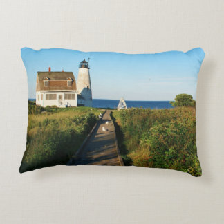 Wood Island Lighthouse, Maine Accent Pillow