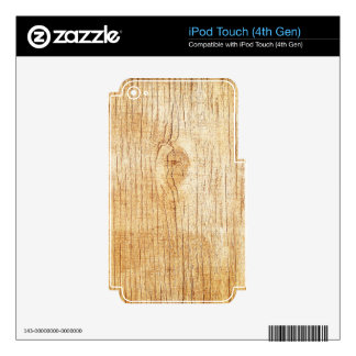 wood.jpg decal for iPod touch 4G