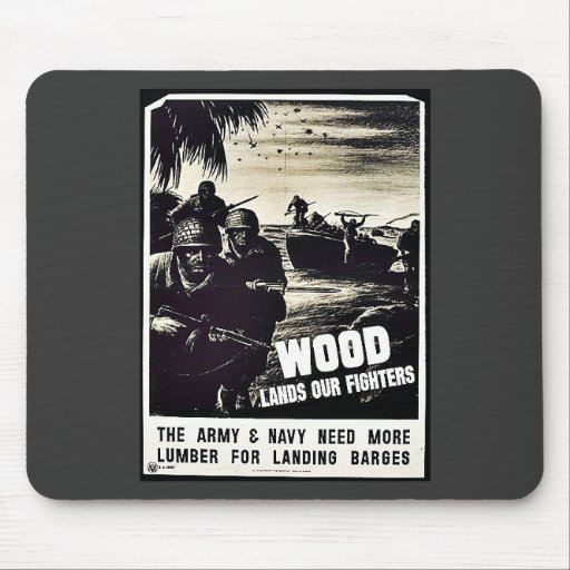 Wood Lands Our Fighters Mousepads