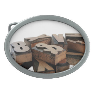wood letters belt buckle