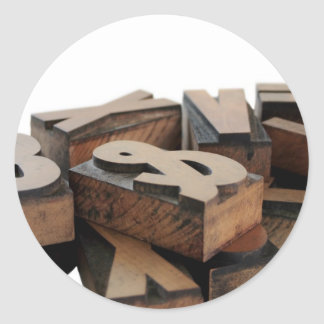 wood letters hat round stickers