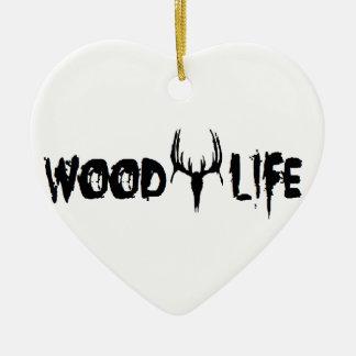 Wood Life Deer Head Ceramic Ornament