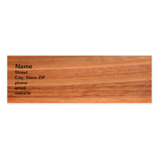 Wood Lines Mini Business Card