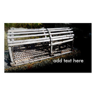 wood lobster trap or cage business card